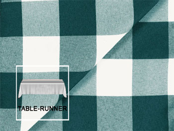 "Polyester Check Table Runner 13"" x 108"" - 4 runners/pack"