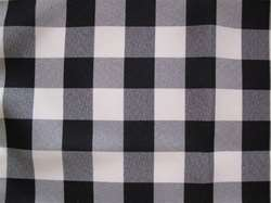 "Sample Polyester Check Tablecloth 90"" Round"