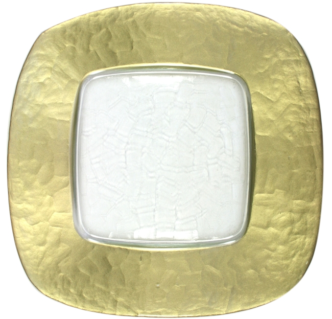 13  Chargeit by Jay Round Jay Gold Square with Clear Center Charger Plate - Set  sc 1 st  RazaTrade & Buy Cheap Decorative Glass Charger Plates