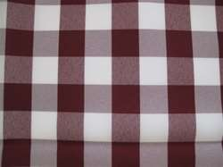 "Sample Polyester Check Tablecloth 132"" Round"