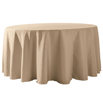 "Wholesale Elegant Rental - 120"" Round Polyester Table Cloths 