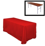 "78""X120"" Rectangular Polyester Table Cloths -Rounded Corners"