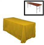 "78""X132"" Rectangular Polyester Table Cloths -Rounded Corners"