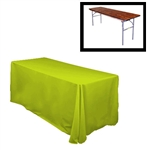 "78""X156"" Rectangular Polyester Table Cloths -Rounded Corners"