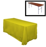 "84""X120"" Rectangular Polyester Table Cloths -Rounded Corners"