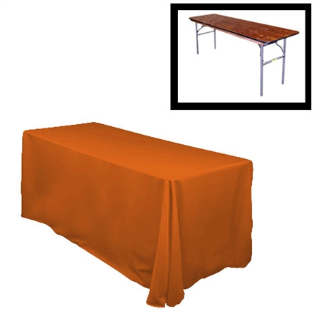 "84""X132"" Rectangular Polyester Table Cloths -Rounded Corners"