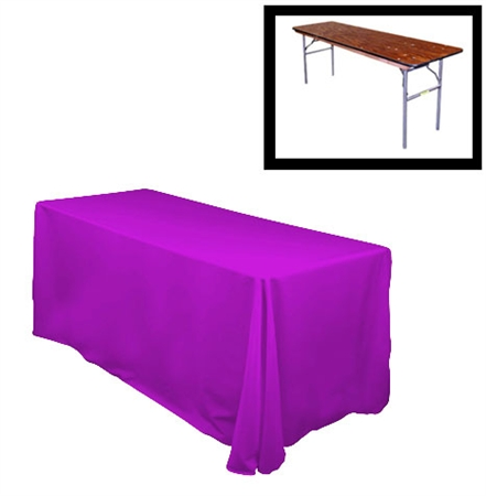 "84""X156"" Rectangular Polyester Table Cloths -Rounded Corners"
