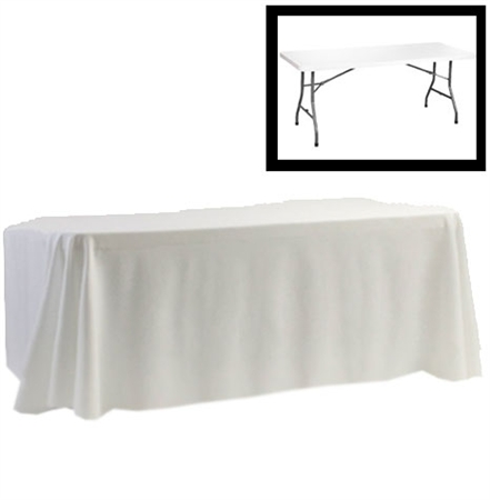 "88"" X 130"" Rectangular Polyester Table Cloths"