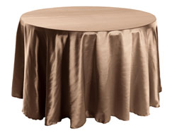 "Herringbone Polyester 102"" Round Tablecloth"