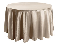 "Herringbone Polyester 114"" Round Tablecloth"