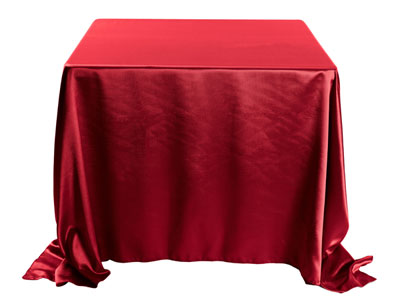 "Herringbone Polyester 120""x120"" Square Tablecloth (rounded corners)"