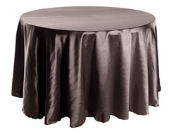 "Herringbone Polyester 132"" Round Tablecloth"