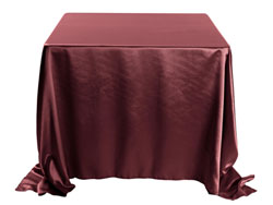 "Herringbone Polyester 132""x132"" Square Tablecloth (rounded corners)"