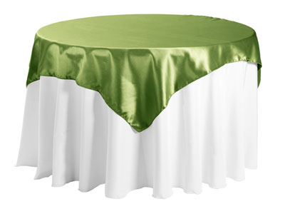 "Herringbone Polyester 45""x45"" Square Tablecloth"