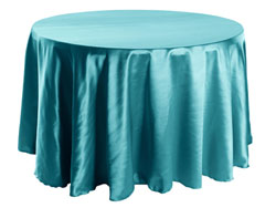 "Herringbone Polyester 72"" Round Tablecloth"