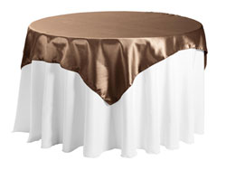 "Herringbone Polyester 84""x84"" Square Tablecloth"
