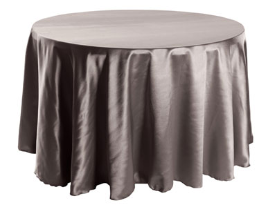 "Herringbone Polyester 90"" Round Tablecloth"