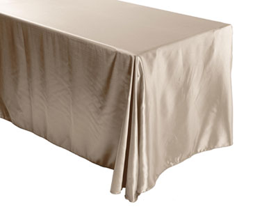 "Herringbone Polyester 90""x156"" Rectangular Tablecloth – (rounded corners)"
