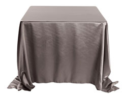 "Herringbone Polyester 90""x90"" Square Tablecloth"