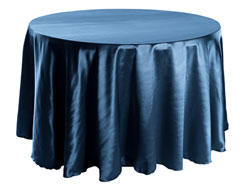 "Herringbone Polyester 96"" Round Tablecloth"