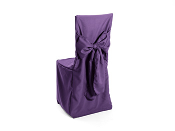 Premium Polyester Cane Back Chair Cover with Ties Attached