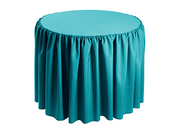 "36"" Premium Polyester Round Tablecloth - Gathered Sides"