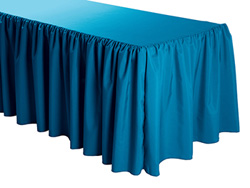 "6FT Premium Polyester Rectangular Tablecloth - Gathered Sides - 30""x72""x29"""