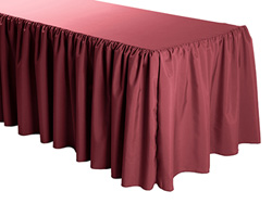 "8FT Premium Polyester Rectangular Tablecloth - Gathered Sides - 30""x96""x29"""