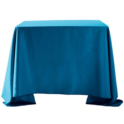 "108""X108"" Overlay Polyester Table Cloths -Rounded Corners"