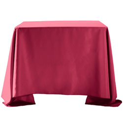 "120""X120"" Overlay Polyester Table Cloths -Rounded Corners"