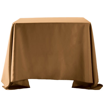 "132""X132"" Overlay Polyester Table Cloths -Rounded Corners"