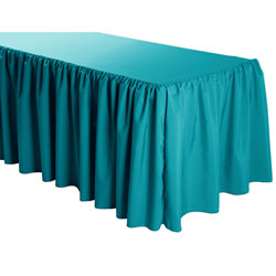 Shirred Polyester Table Skirts - 6 Foot Table (all sides covered) - 17 foot section