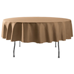 "Wholesale Elegant Rental - 90"" Round Polyester Table Cloths 