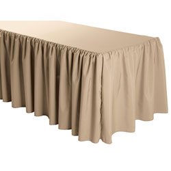 Shirred Polyester Table Skirts - 6 Foot Table (3 sides covered) - 11 foot section