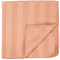 "17"" x 17"" Poly Stripe Napkins - 1dz/packet"