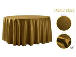 "Double Sided Satin / Dupioni 132"" Round Tablelcoth"