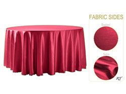 "Double Sided Satin / Dupioni 114"" Round Tablelcoth"