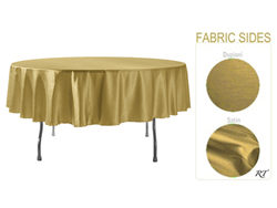 "Double Sided Satin / Dupioni 72"" Round Tablelcoth"
