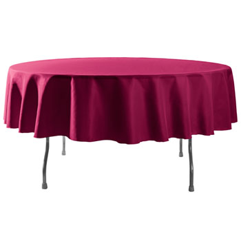 "Rental - 108"" Round Polyester Table Cloths"