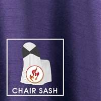 "4""x108"" Chair Sash Polished-Luster Flame Retardant Satin"