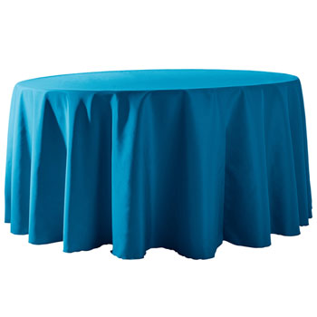 "Wholesale Elegant Rental - 132"" Round Polyester Table Cloths 