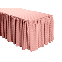 Shirred Stripe Polyester Table Skirt - 6 Foot Table (3 sides covered) 11FT Section