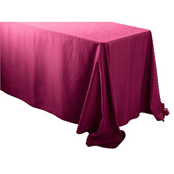 "Rental - 90"" x 132"" Rectangular Polyester Table Cloth"
