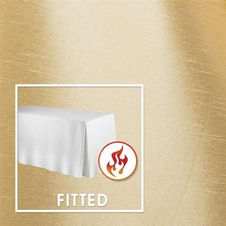 "6'x30"" Fitted Polished-Luster Flame Retardant Satin Tablecloth"
