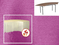 SERPENTINE 6030 Fitted Polished-Luster Flame Retardant Satin Tablecloth