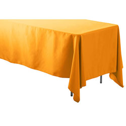 "60"" x 144"" Rectangular Polyester Table Cloths"
