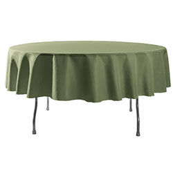"108"" Round Polyester Table Cloths"