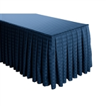 6 Foot Table (All sides covered) Box Pleat Stripe Polyester Table Skirt -  17FT Section