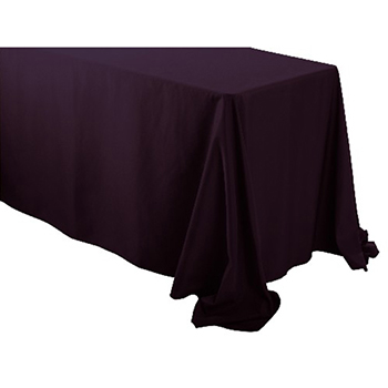 "Rental - 90"" x 156"" Rectangular Polyester Table Cloth"