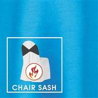 "7""x108"" Chair Sash Polished-Luster Flame Retardant Satin"
